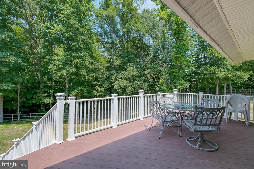 Large deck - 615 BETHEL CHURCH RD, FREDERICKSBURG