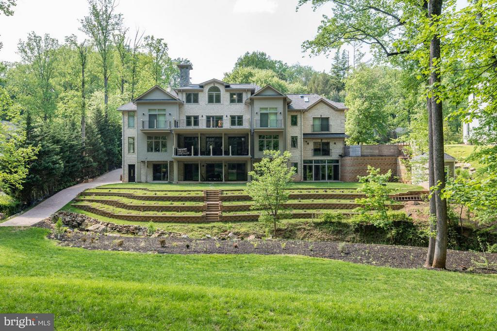 VIEW FOR THE BEAUTIFUL BACK YARD - 8735 BROOK RD, MCLEAN