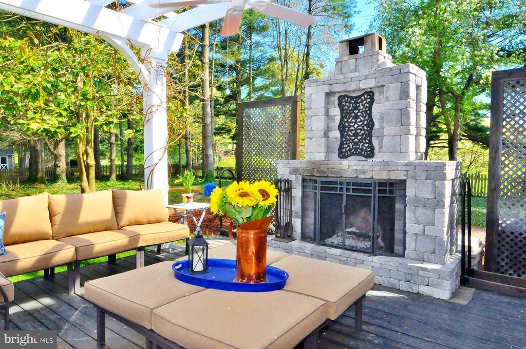 Custom built wood burning fireplace - 23470 DOVER RD, MIDDLEBURG