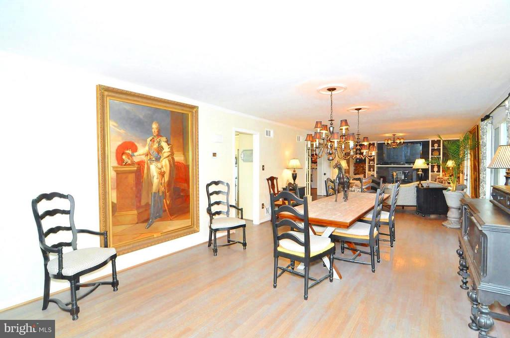 Gallery view from family to living room - 23470 DOVER RD, MIDDLEBURG