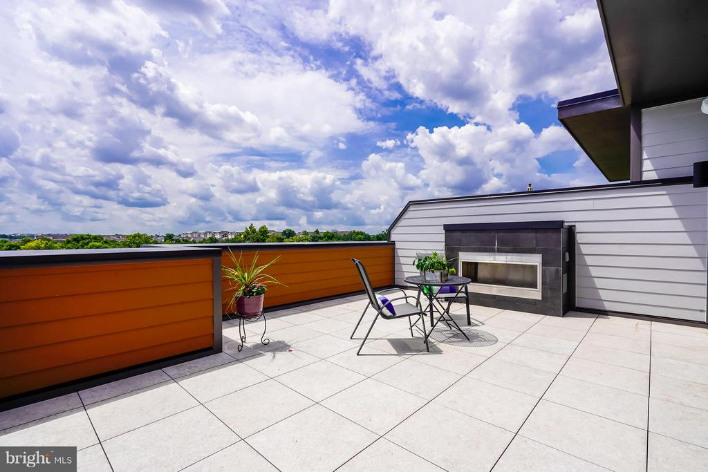 Rooftop Terrace W Fireplace - 44661 BRUSHTON TER, ASHBURN