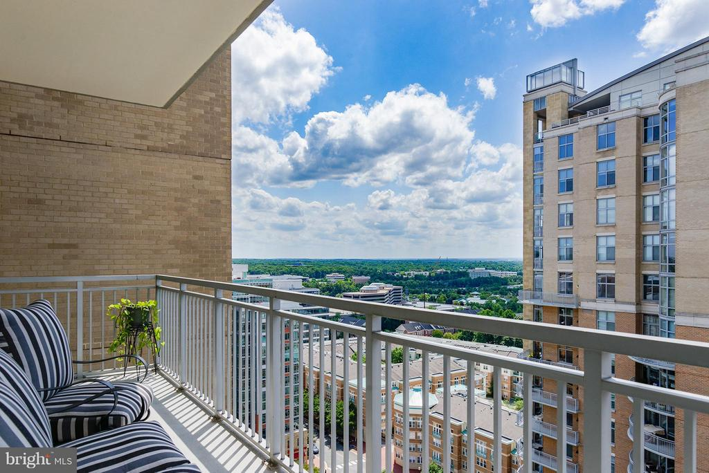 View from the balcony - 11990 MARKET ST #1801, RESTON