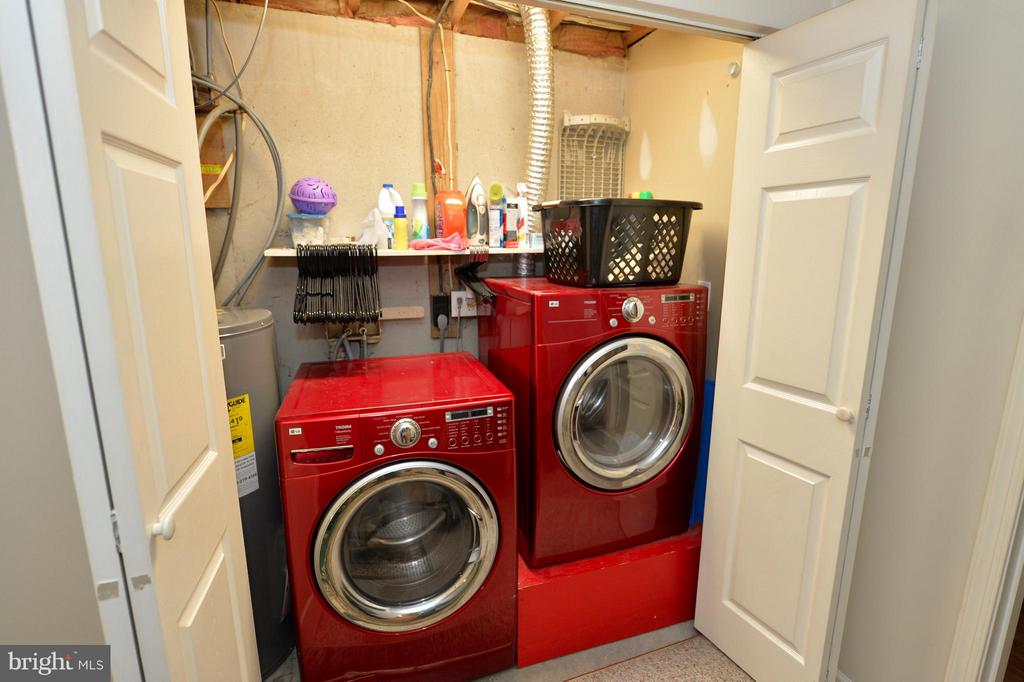 Laundry Closet with Front Load Washer & Dryer - 39 CONIFER CT, HARPERS FERRY