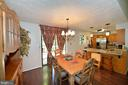 Formal Dining Room is Open to the Kitchern - 39 CONIFER CT, HARPERS FERRY