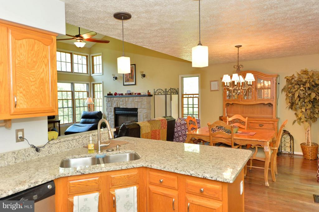 Kitchen is Open to the Dining and Living Rooms - 39 CONIFER CT, HARPERS FERRY