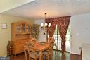 Dining Room with Sliding Glass Doors to the Deck - 39 CONIFER CT, HARPERS FERRY