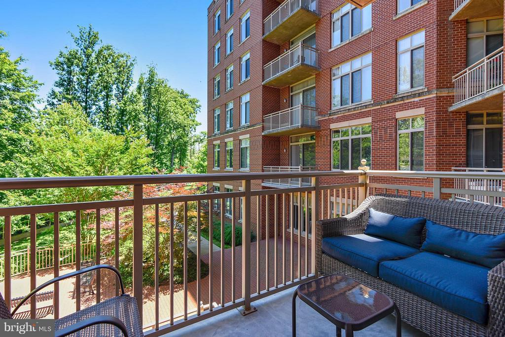 Private Cozy Balcony  Overlooks Green-space - 4480 MARKET COMMONS DR #205, FAIRFAX