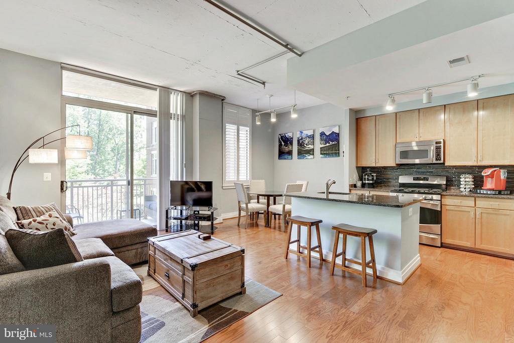 Open Concept Living Space with Great Natural Light - 4480 MARKET COMMONS DR #205, FAIRFAX