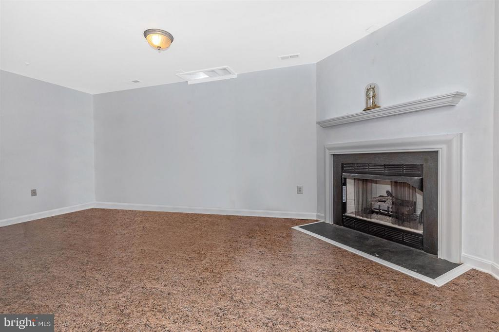Basement Family Room with gas fireplace. - 2213 LAMP POST LN, FREDERICK