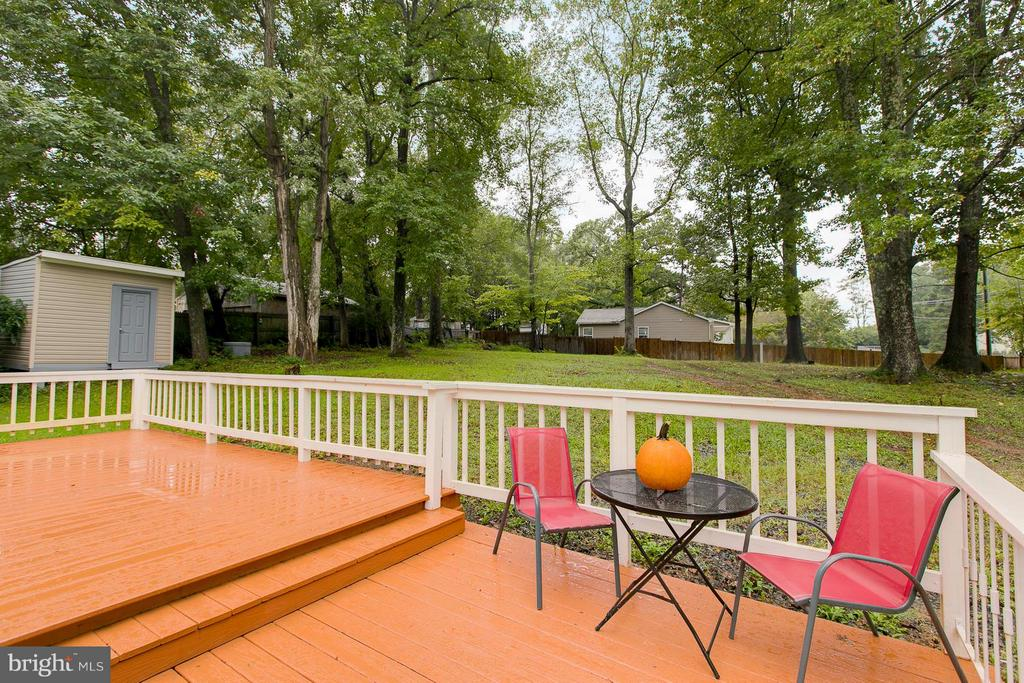 Two-tiered deck - 125 ONVILLE RD, STAFFORD