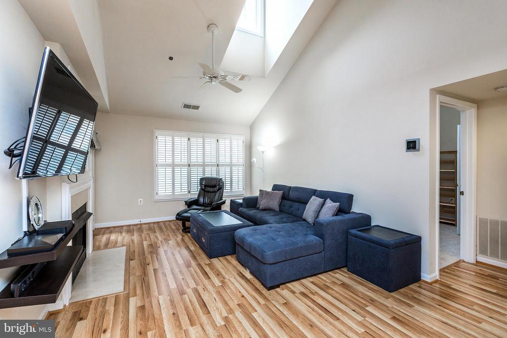 Living Room w/vaulted celing and skylight - 1320 WAYNE ST #408, ARLINGTON