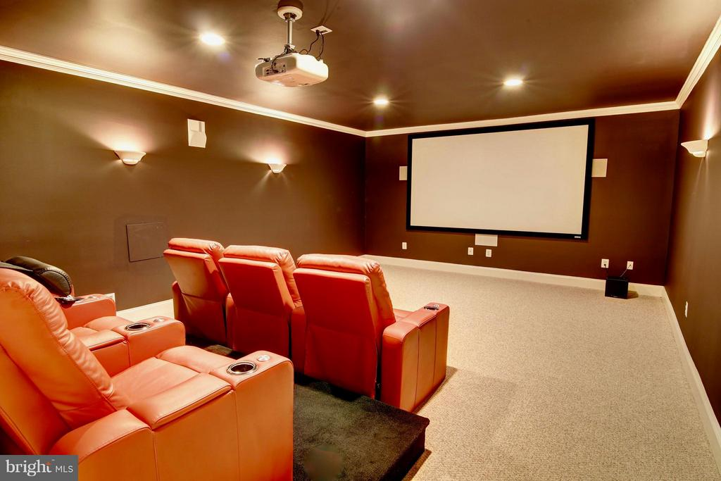 Basement Media Room - 41731 PUTTERS GREEN CT, LEESBURG
