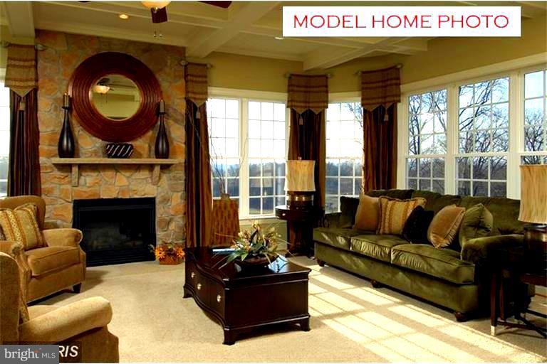 Inviting Family Room with warm gas fireplace - 15979 WATERFORD CREEK CIR, HAMILTON