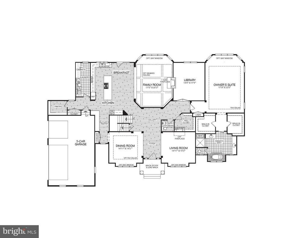Main Level Plan with Enormous Owner's Suite - WATERFORD CREEK CIR, HAMILTON