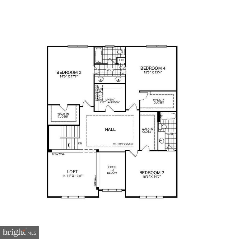Upper Level Plan has 3 large Bedrooms and Spacious - WATERFORD CREEK CIR, HAMILTON