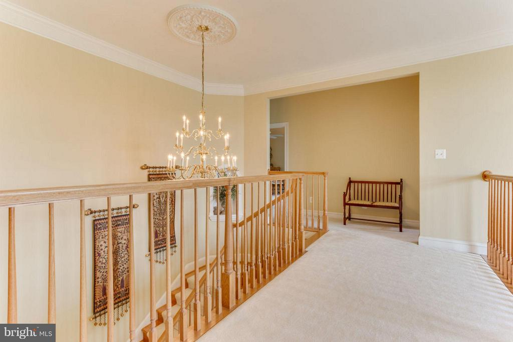 Upper Lvl Hallway overlooking Foyer - Curved Stair - 35191 DORNOCH CT, ROUND HILL