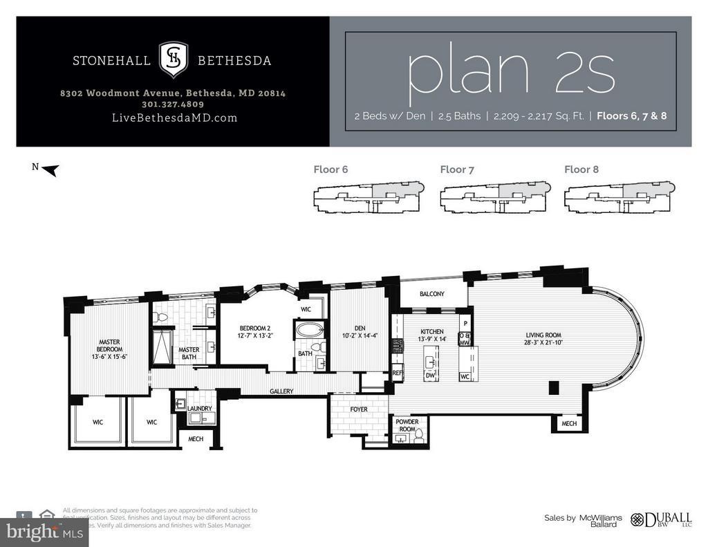 Floor plan - 8302 WOODMONT AVE #801, BETHESDA