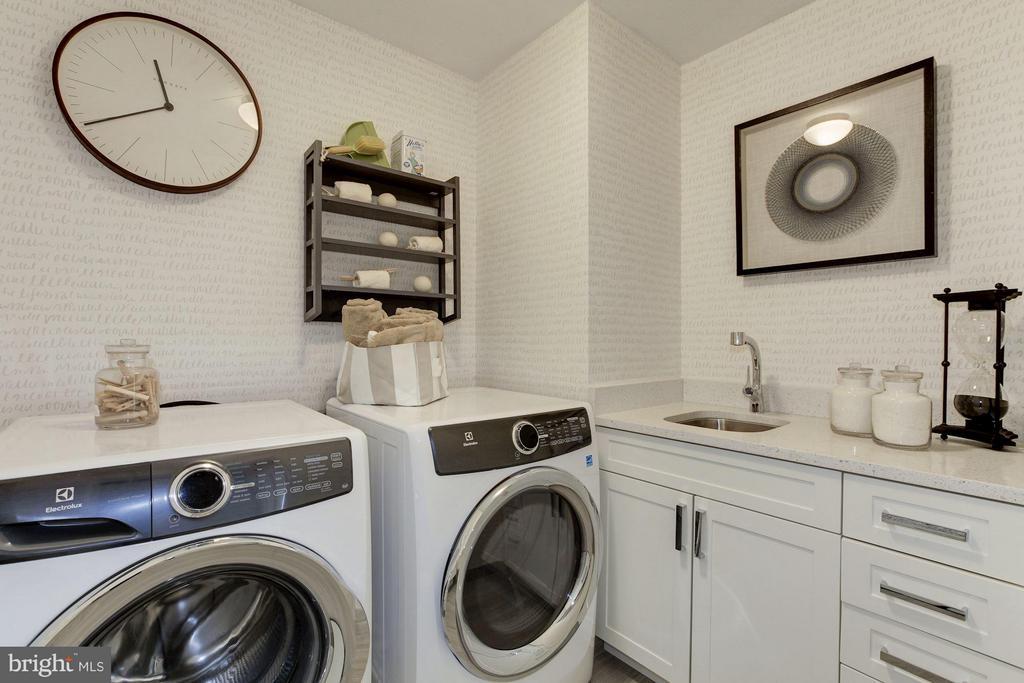 Laundry room - 8302 WOODMONT AVE #801, BETHESDA
