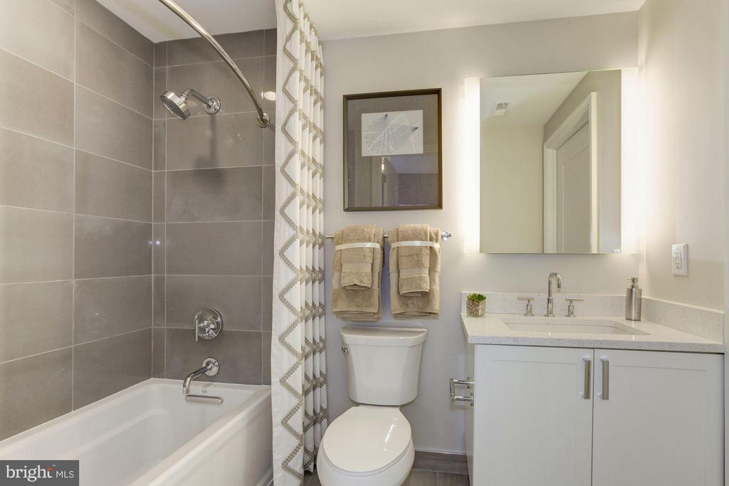 Hallway full bathroom - 8302 WOODMONT AVE #801, BETHESDA