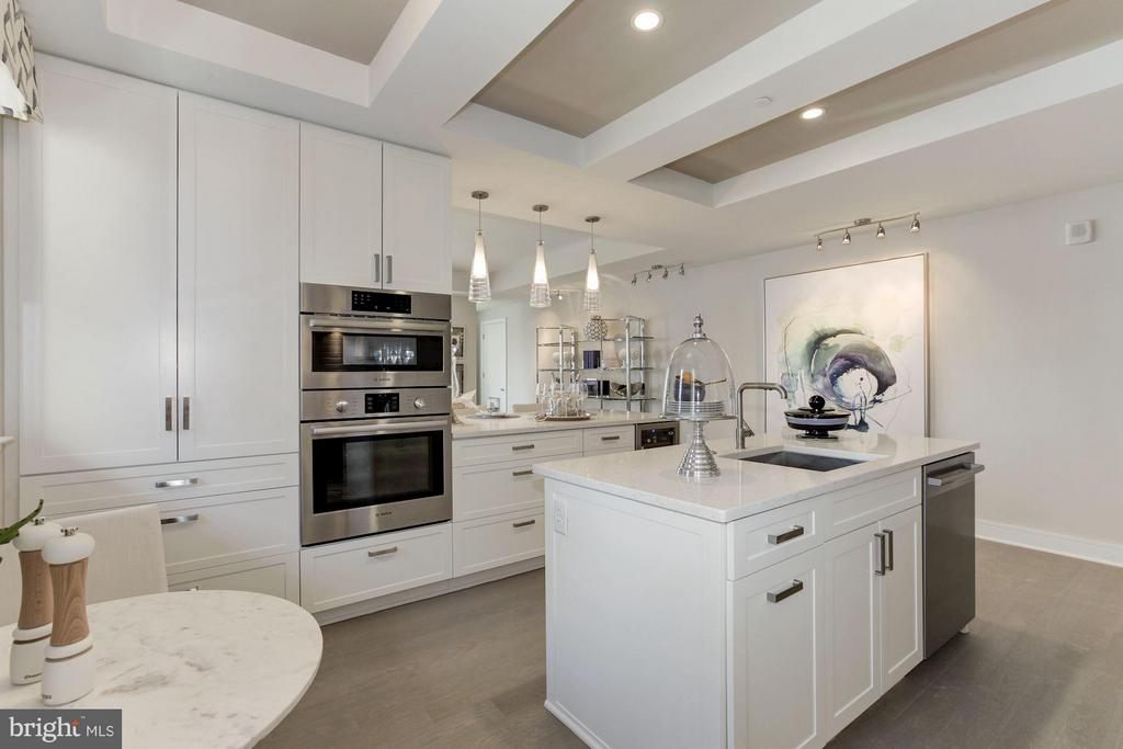 Kitchen - 8302 WOODMONT AVE #801, BETHESDA