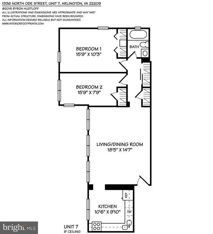 Floorplan - 1336 ODE ST #7, ARLINGTON