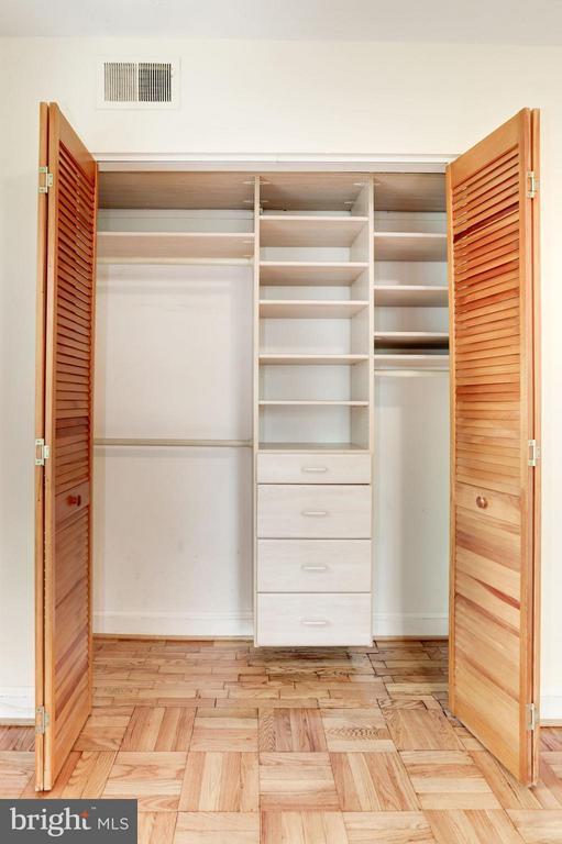 Master Bedroom Closet with Custom Built-Ins - 1336 ODE ST #7, ARLINGTON