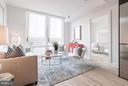 Floor-to-ceiling glass windows. Natural light - 801 VIRGINIA AVE SE #206, WASHINGTON