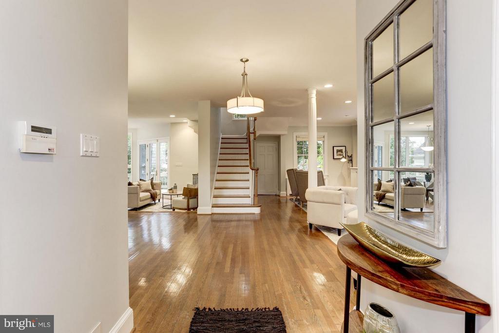 Entry Foyer with 2 Large Closets - 5464 31ST ST NW, WASHINGTON