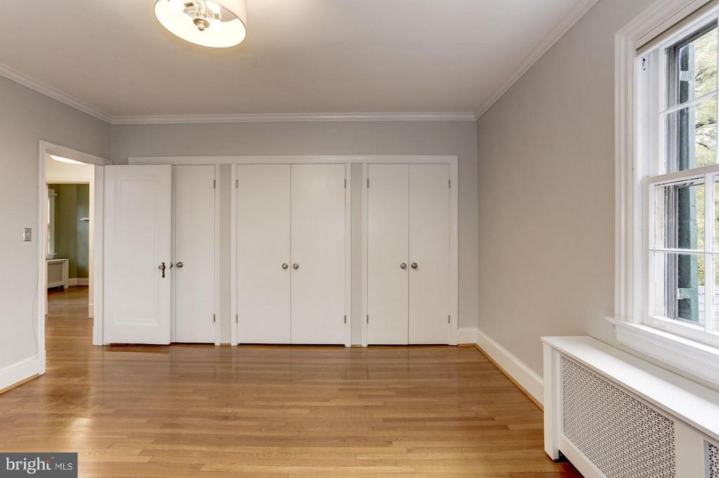 Master Bedroom with Wall of Closets - 5464 31ST ST NW, WASHINGTON