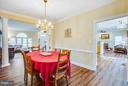 Spacious and bright formal dining room - 2550 HOLLY MANOR DR, FALLS CHURCH