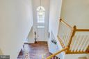 two story foyer and stairwell - 2550 HOLLY MANOR DR, FALLS CHURCH