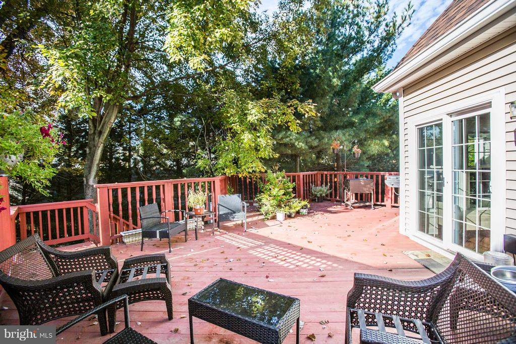 Huge deck off Kitchen and family room - 2550 HOLLY MANOR DR, FALLS CHURCH