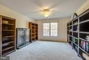 4th bedroom - black shelves convey - 2550 HOLLY MANOR DR, FALLS CHURCH