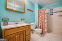 Very spacious full bath in basement - 2550 HOLLY MANOR DR, FALLS CHURCH