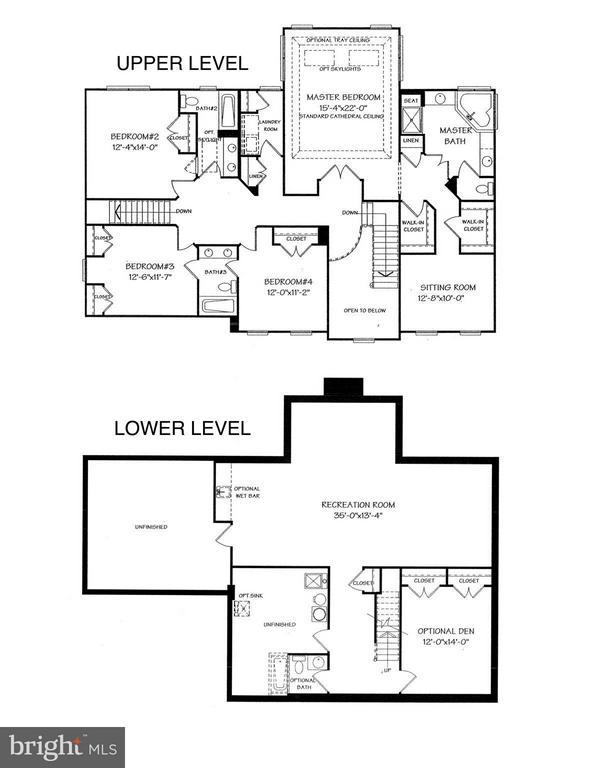 Upper and Lower Level Floorplans - 43499 CROSS BREEZE PL, ASHBURN