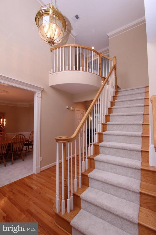 Hardwood Stairs From 2-Story Foyer to Upper Level - 43499 CROSS BREEZE PL, ASHBURN