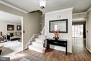 Foyer with Hardwood floors - 4422 TULIP TREE CT, CHANTILLY
