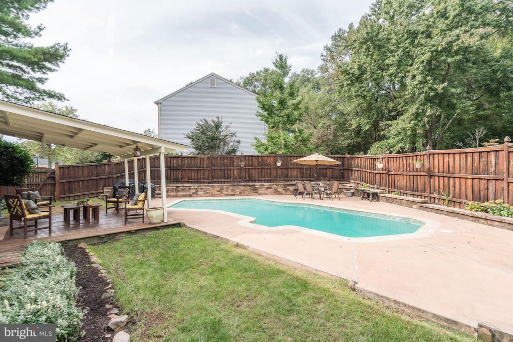 Outside Space next to Pool - 4422 TULIP TREE CT, CHANTILLY