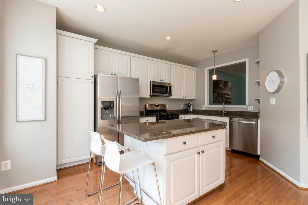 Beautifully updated kitchen! - 21043 ROAMING SHORES TER, ASHBURN