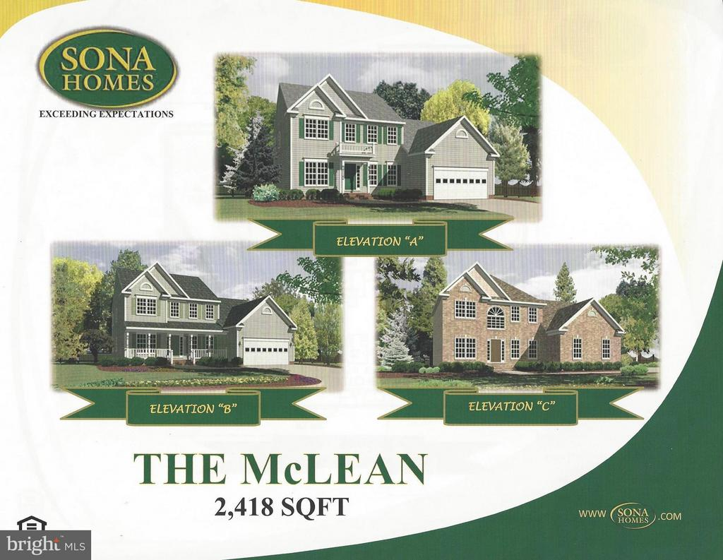 Choose your elevation - LOT 137, CULPEPER