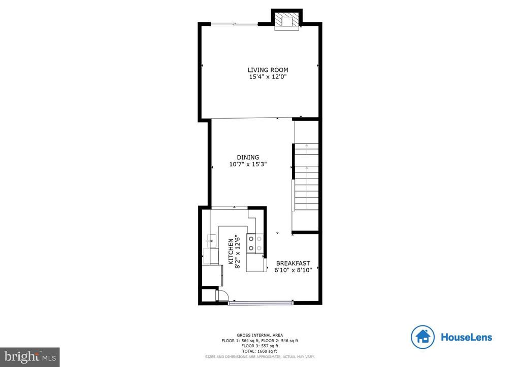 Main Living Level - 2126 HUTCHISON GROVE CT, FALLS CHURCH