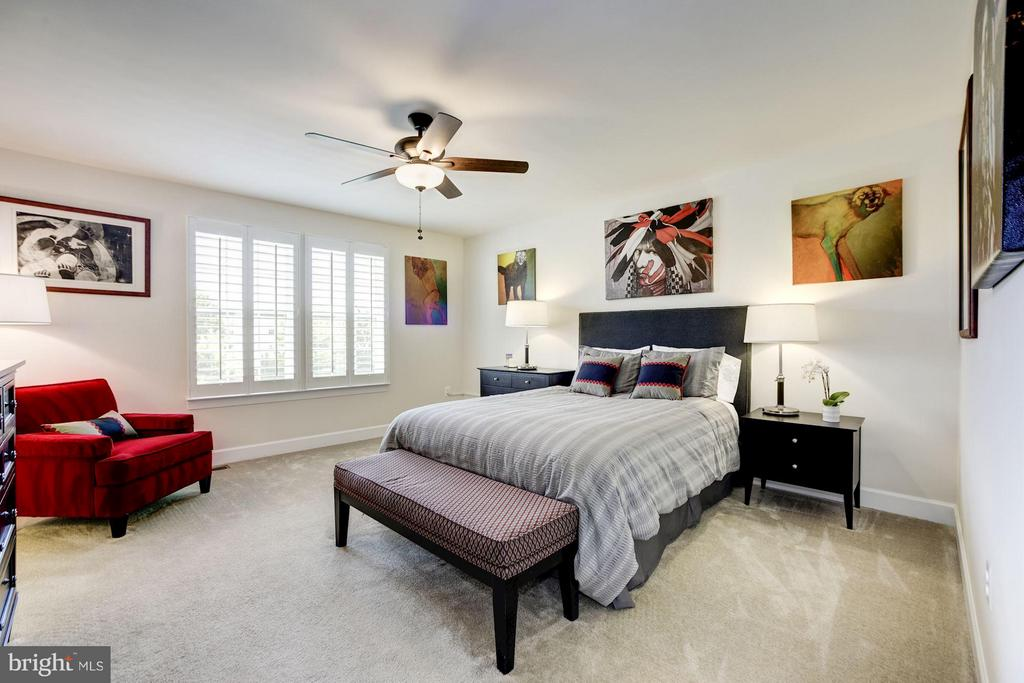 MASTER BEDROOM - LARGE, SPACIOUS, CEILING FAN! - 6260 SUMMIT POINT CT, ALEXANDRIA