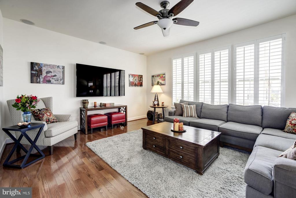 SUNDRENCHED LIVING ROOM WITH WALL OF BIG WINDOWS! - 6260 SUMMIT POINT CT, ALEXANDRIA