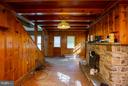 Dining Room stone fireplace - 15854 SAINT ANTHONY RD, THURMONT