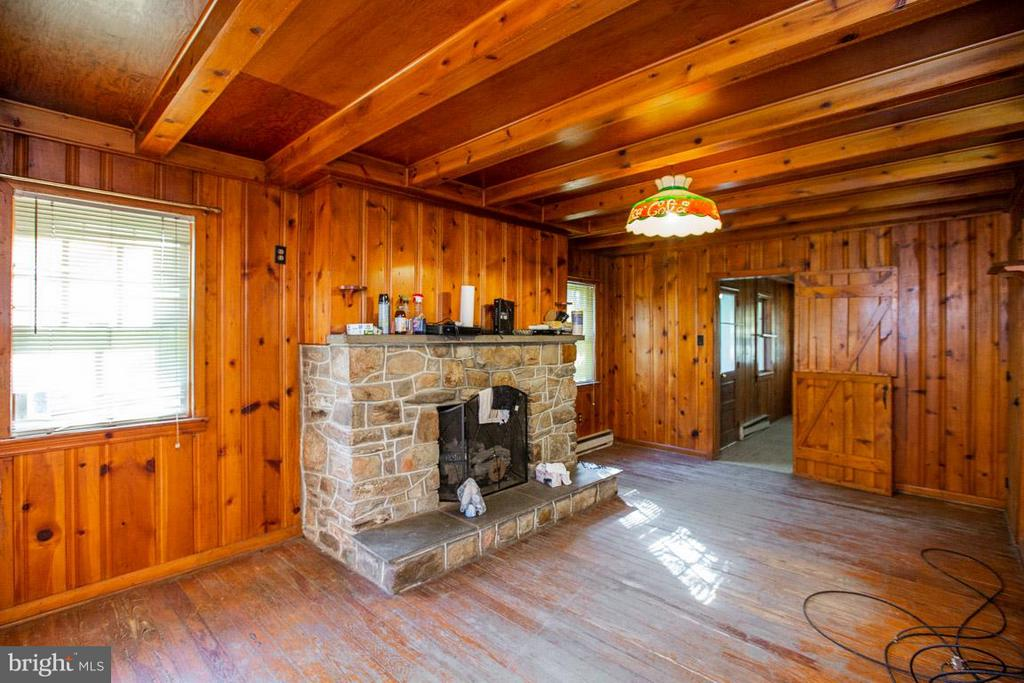 Mantel and lots of wood - 15854 SAINT ANTHONY RD, THURMONT