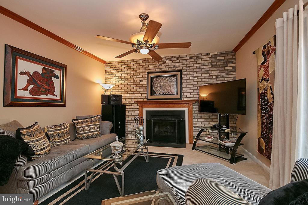 Family Room with Lighted Ceiling Fan - 7827 BOLD LION LN, ALEXANDRIA