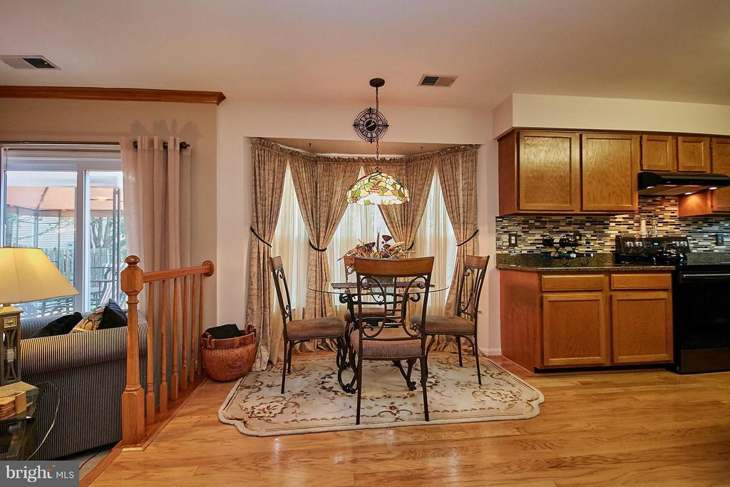 Breakfast Area with Hardwood Floor - 7827 BOLD LION LN, ALEXANDRIA