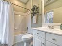 Upper level en suite full bathroom. - 3918 SWEET BRIAR LN, FREDERICK