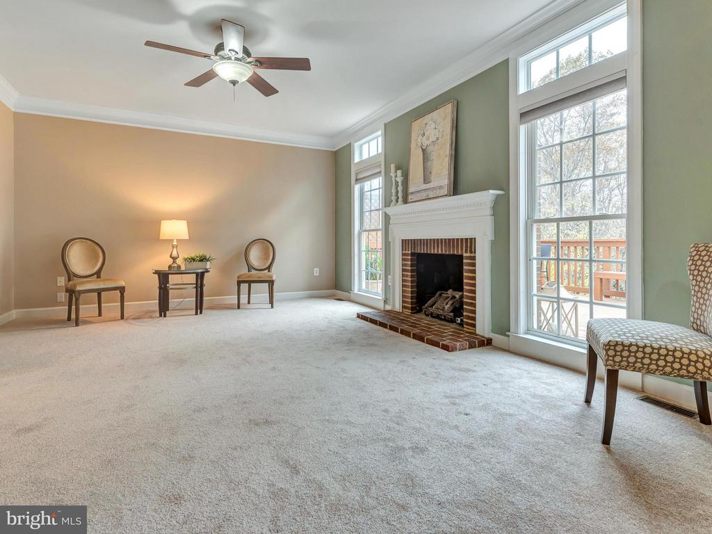 Family room boasts a fantastic view. - 3918 SWEET BRIAR LN, FREDERICK