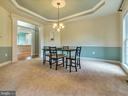Dining Room features moldings and tray ceiling. - 3918 SWEET BRIAR LN, FREDERICK